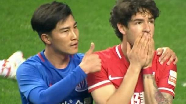 Китайский футболист дисквалифицирован наполгода зафол наВитселе