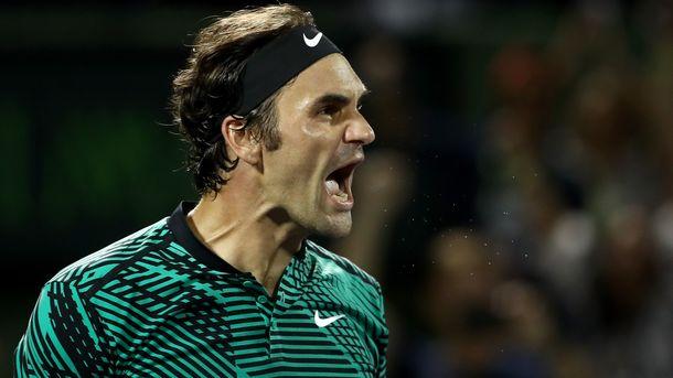 Федерер вышел вфинал турнира вМайами, где сыграет против Надаля