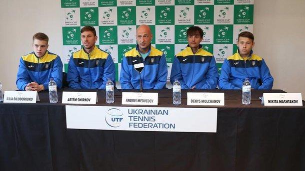 Кубок Дэвиса: счет вматче Португалия— Украина стал 2:1