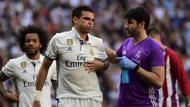 Пепе сломал два ребра впроцессе матча «Реала» с«Атлетико»