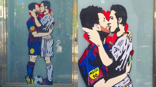 Картина в Барселоне. Фото Twitter