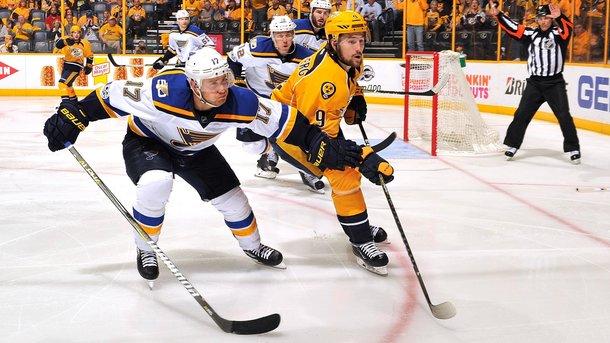 «Нэшвилл» повел всерии плей-офф НХЛ против «Сент Луиса»