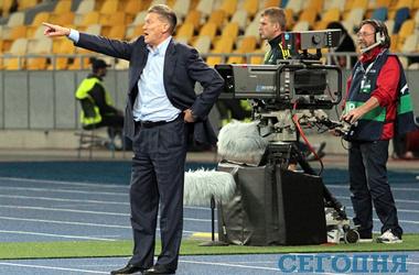 <p>Экс-тренер сборной Олег Блохин</p>