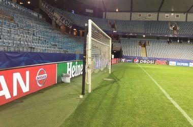 <p>Оригинальные ворота на шведском стадионе. Фото Э. Кинзерский</p>