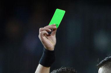 Впервые в истории футбола игроку была показана зеленая карточка