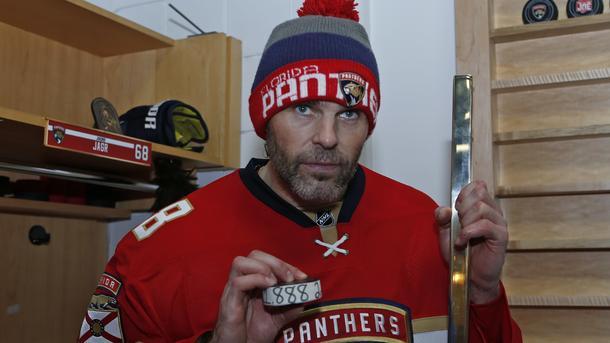 Ягр вышел на 2-ое место всписке наилучших бомбардиров вистории НХЛ