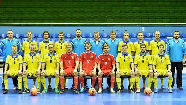 Сборная Украины пофутзалу сыграла вничью сдействующими чемпионами Европы испанцами