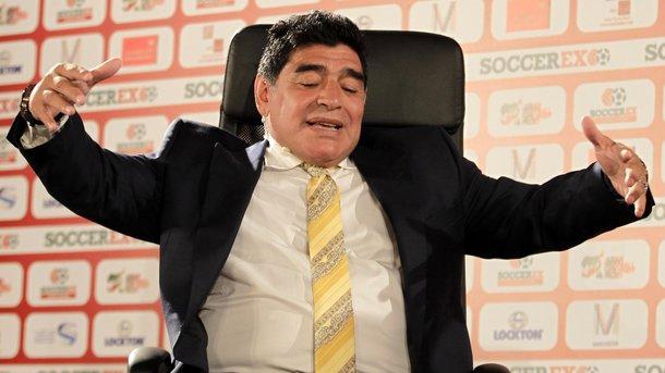 Легенда футбола Марадона будет работать вФИФА