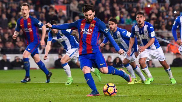 Благодаря голам Лионеля Месси «Барселона» вырвала победу у«Леганеса» вчемпионате Испании