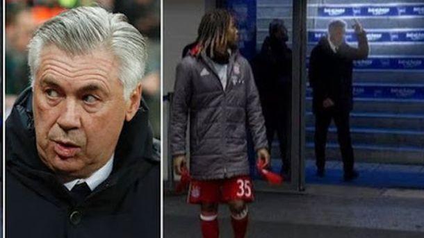 Анчелотти угрожает 10 тыс. евро штрафа занеприличный жест