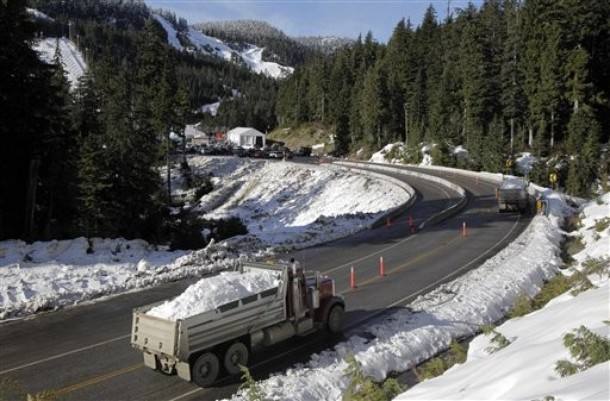 На Олимпиаду в Ванкувере везут снег