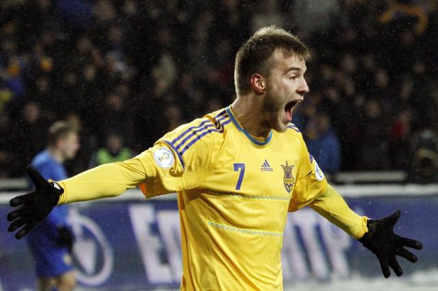 Украина- Молдова, 1-й гол