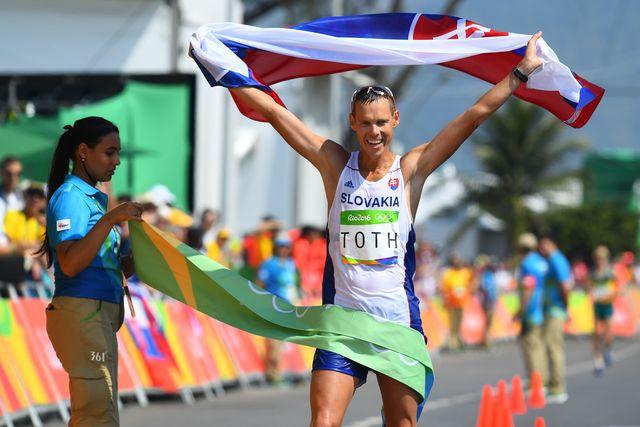 Словак Матей Тот— олимпийский чемпион входьбе на50км