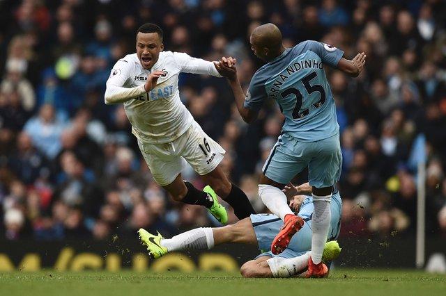 «Манчестер Сити» вырвал победу у«Суонси»
